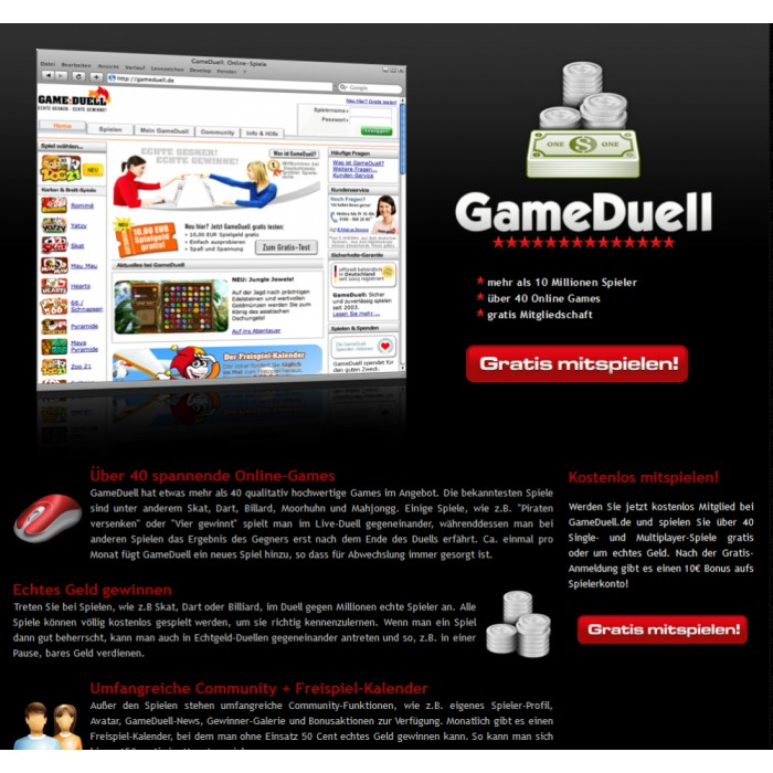 Landing Page - Game Duell